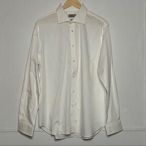 MICHAEL KORS Micro Dot Button Long Sleeve Shirt